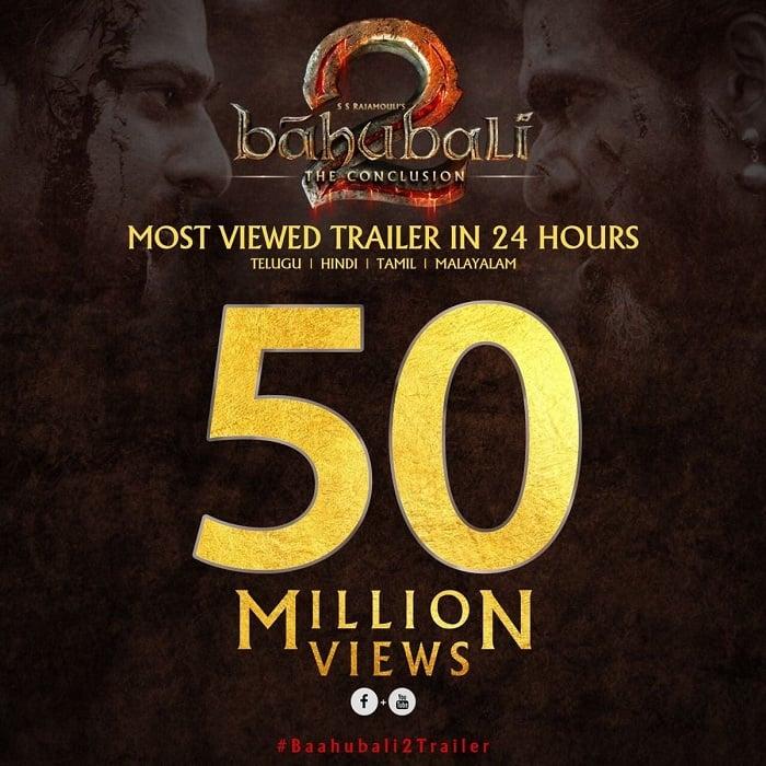 baahubali 2 trailer views