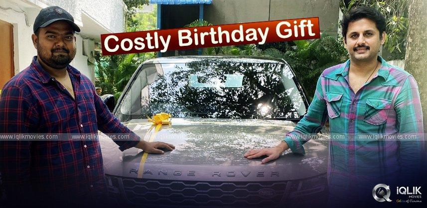 Nithiin Gifts Range Rover To Bheeshma Director