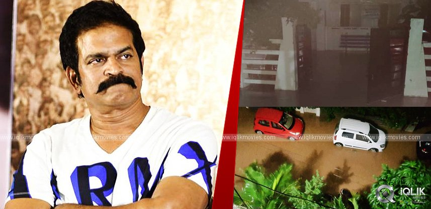 hyderabad-floods-brahmaji-house-filled-with-water