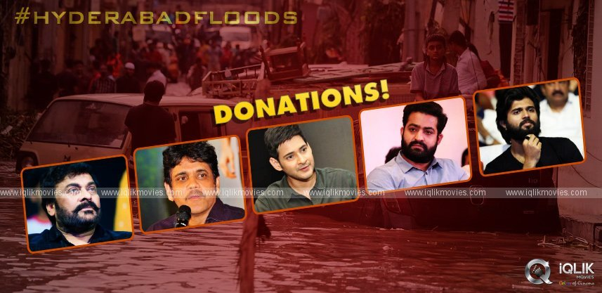 Hyderabad Floods: Tollywood Celebrities Pledges Donations
