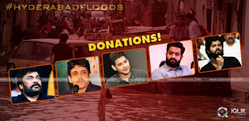 hyderabad-floods-tollywood-celebrities-pledges-donations
