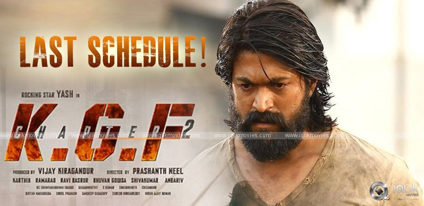 Yash Kick-starts KGF Final Schedule In Hyderabad