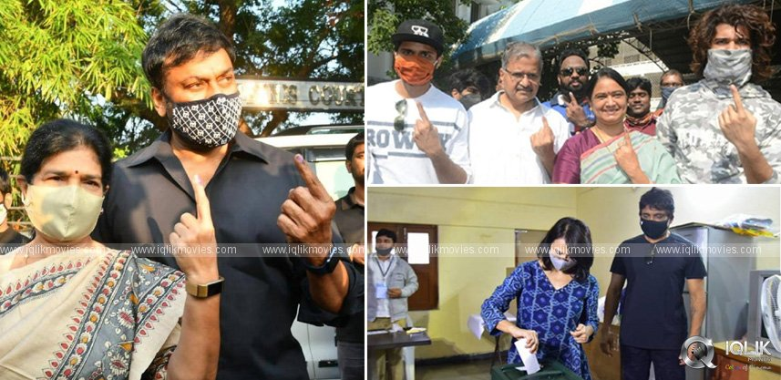 ghmc-polls-tollywood-celebrities-cast-their-votes