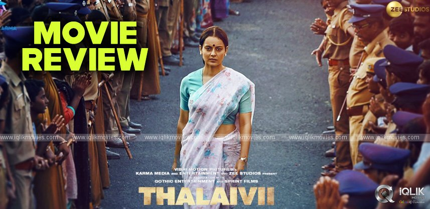 Thalaivi Movie Review and Rating
