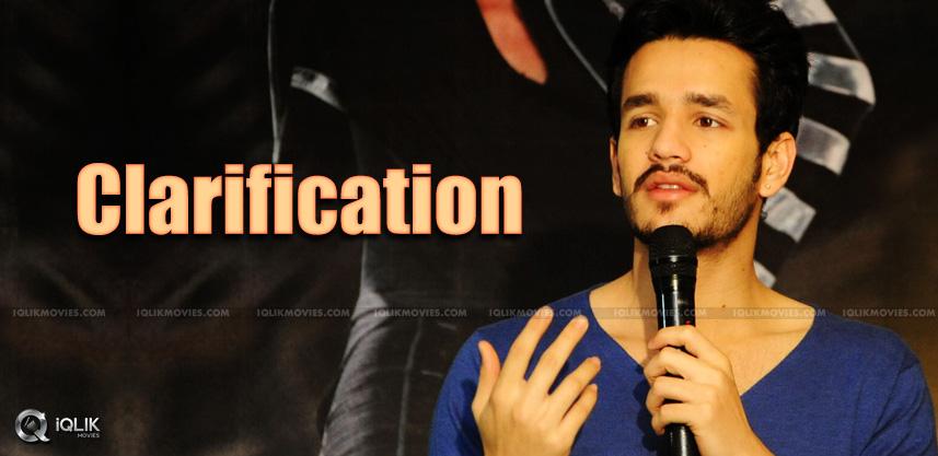 akhil-clarfication-on-his-next-film-rumors