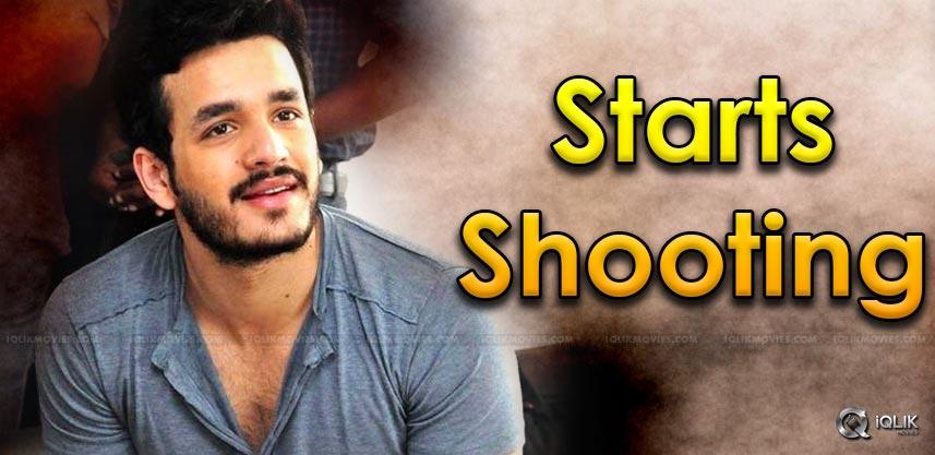 akhil-akkineni-shoots-for-upcoming-movie