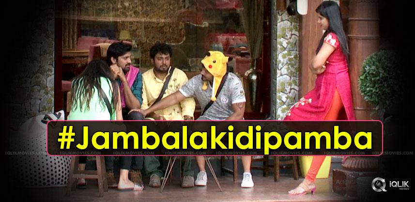 biggboss-episode-enacts-jambalakidipamba