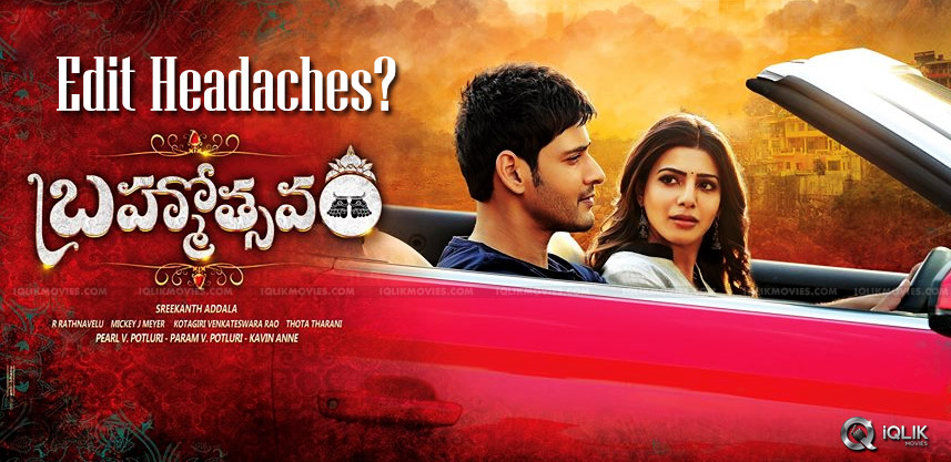 brahmotsavam-post-production-stage-details