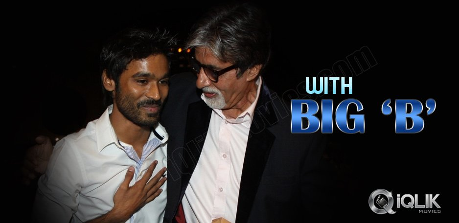 Dhanush-to-share-screen-space-with-Big-B