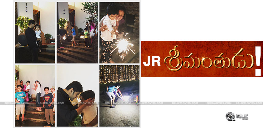mahesh-son-gautham-diwali-celebrations