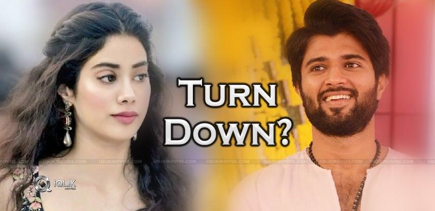 jhanvi-turn-down-deverakonda-movie