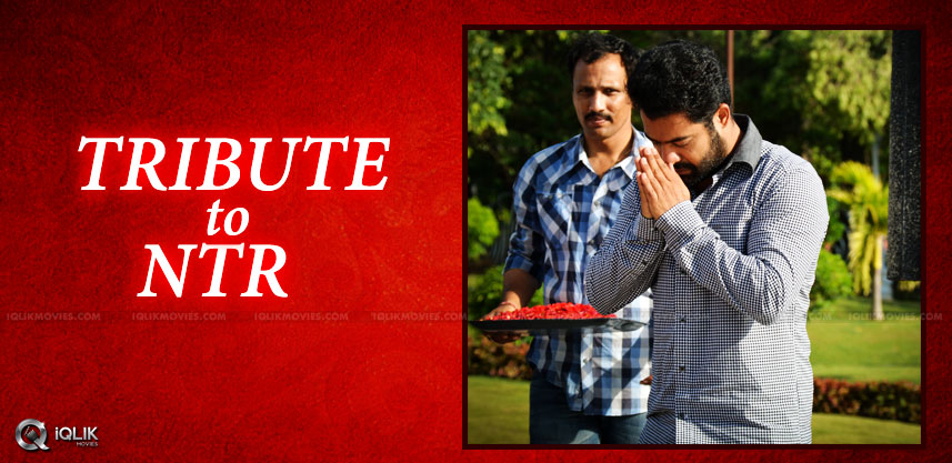 jrntr-visits-ntr-ghat-to-pay-respects-details