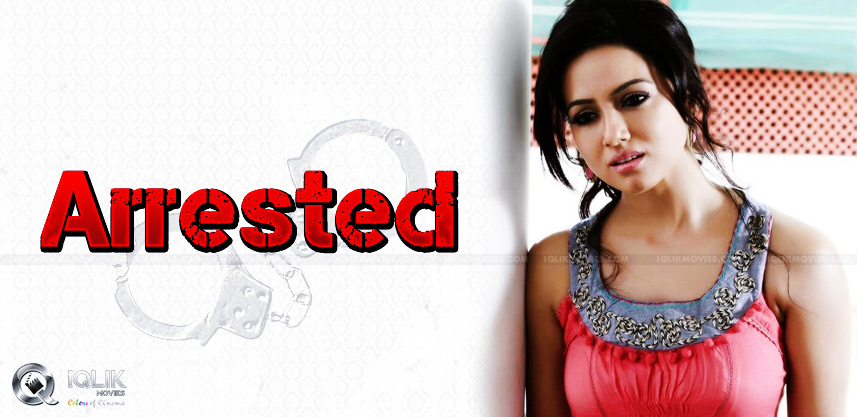 kaththi-heroine-sana-khan-arrested-for-an-assault