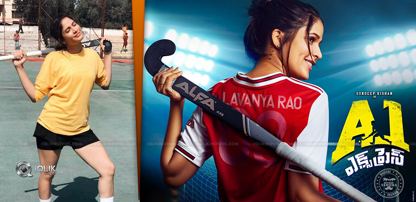 Lavanya-Tripathi-Learns-To-Play-Hockey-For-A1-Expr