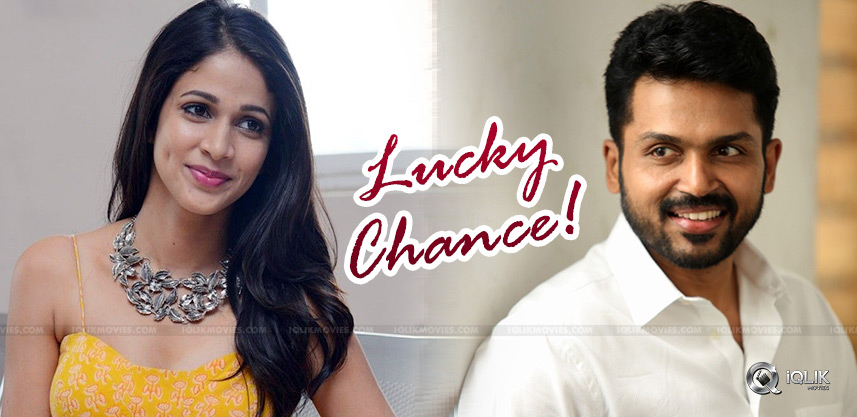 Lavanya-To-Pair-Opposite-Karthi
