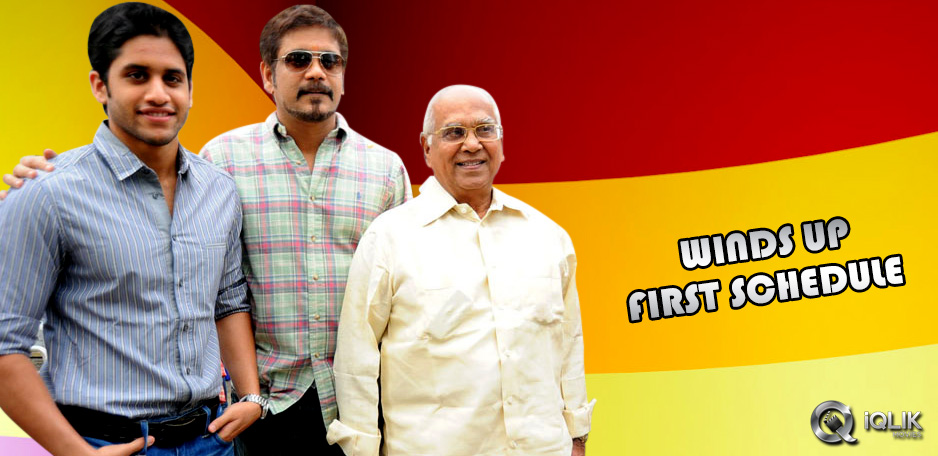 Manam-wraps-first-schedule