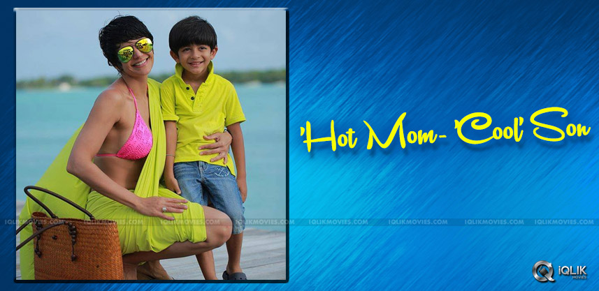 mandira-bedi-latest-picture-with-son-details