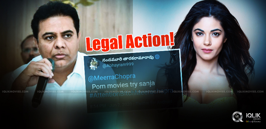 KTR-reacts-to-meera-chopra-issue-with-NTR-fans
