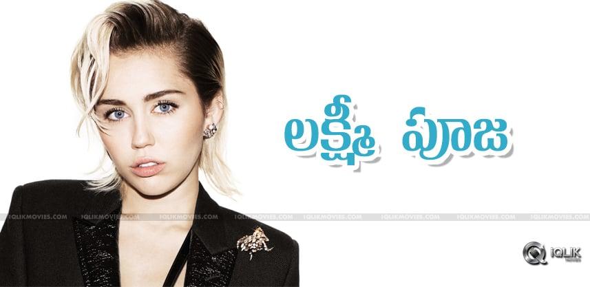 Miley-Cyrus-conducted-Lakshmi-Pooja