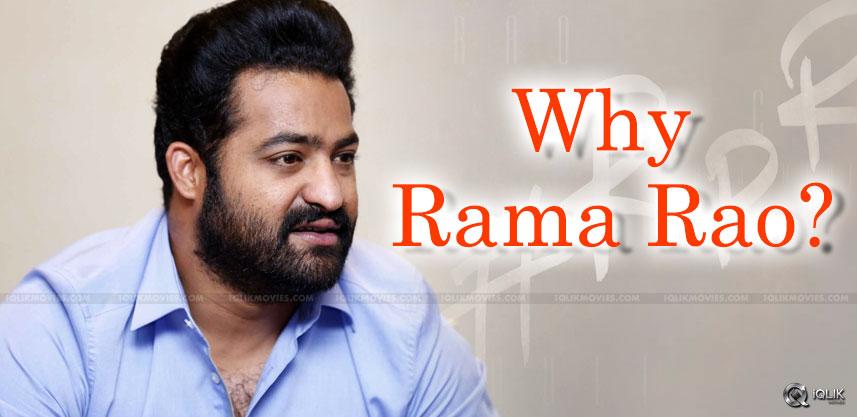 jr-ntr-rajamouli-why-changed-as-rama-rao-
