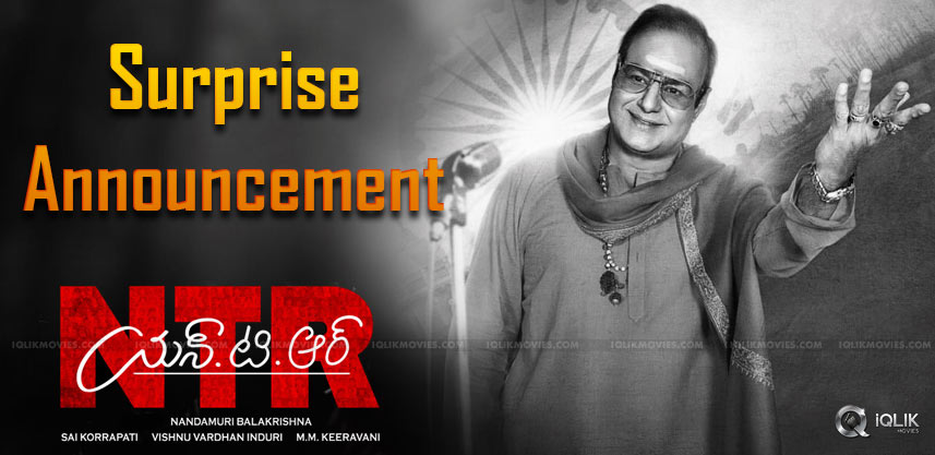 Surprise Announcement From NTR Biopic