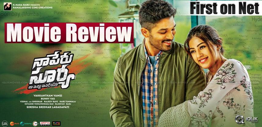 Naa Peru Surya Naa Illu India Movie Review Rating