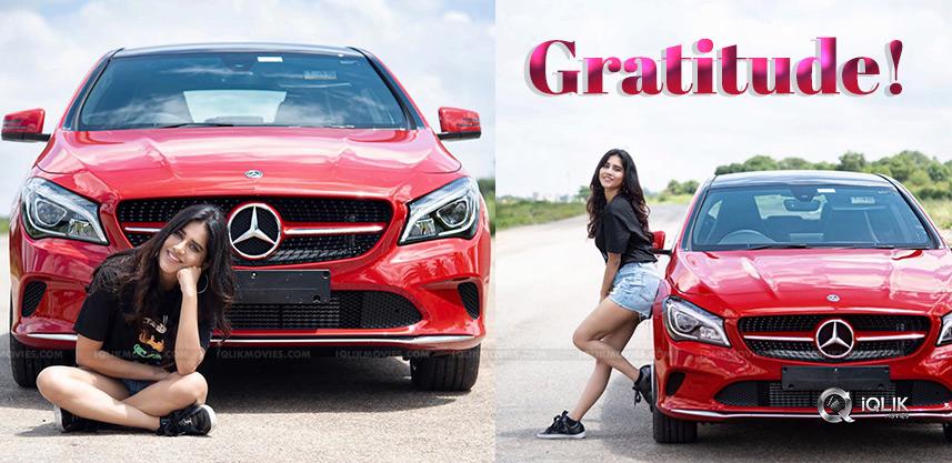 nabha-natesh-new-mercedes-car