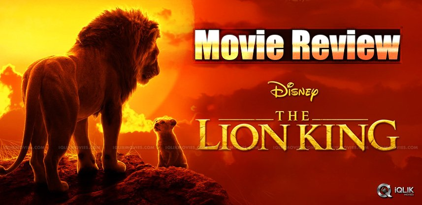 The Lion King Movie Review And Rating