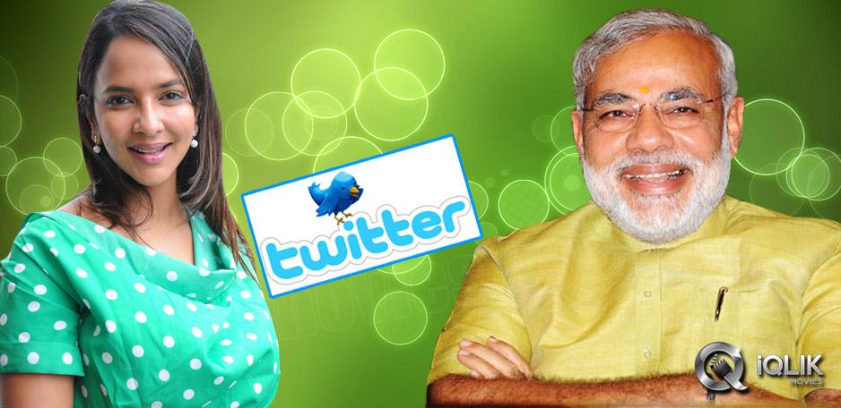 Narendra-Modi-follows-Manchu-Lakshmi