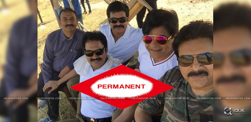 actor-narra-srinu-with-pawan-kalyan-at-shooting