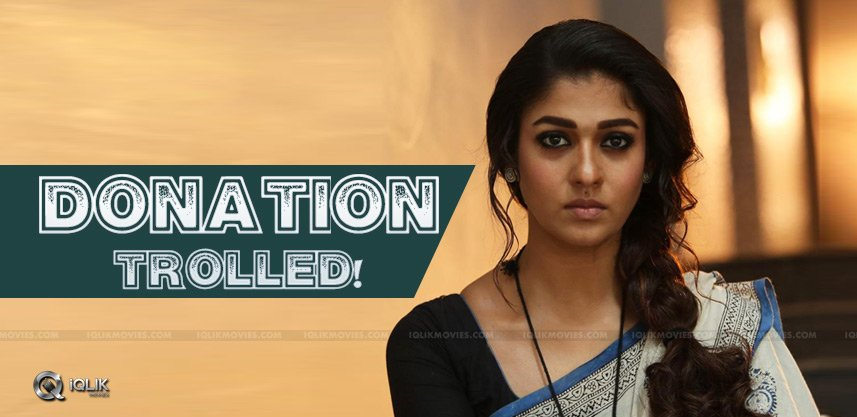 Nayanthara Makes Big Donation, But!