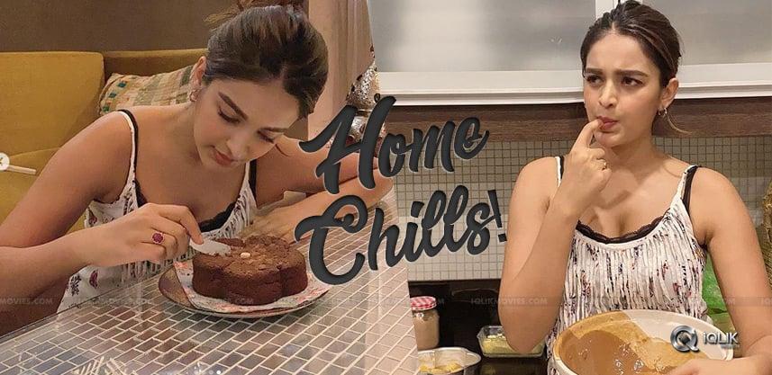 nidhhi-agerwal-home-made-cake