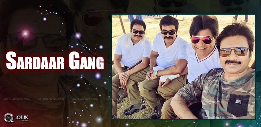 pawan-brahmaji-ali-picture-from-gabbar-singh-shoot
