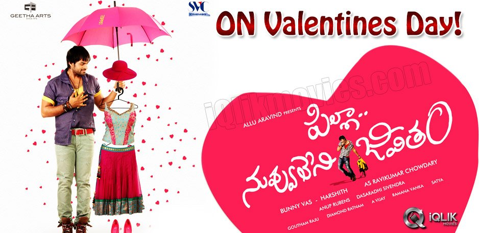 Pilla-Nuvvu-leni-Jeevitham-on-Valentines-Day