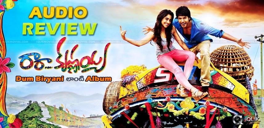 sundeepkishan-regina-ra-ra-krishnayya-audio-review