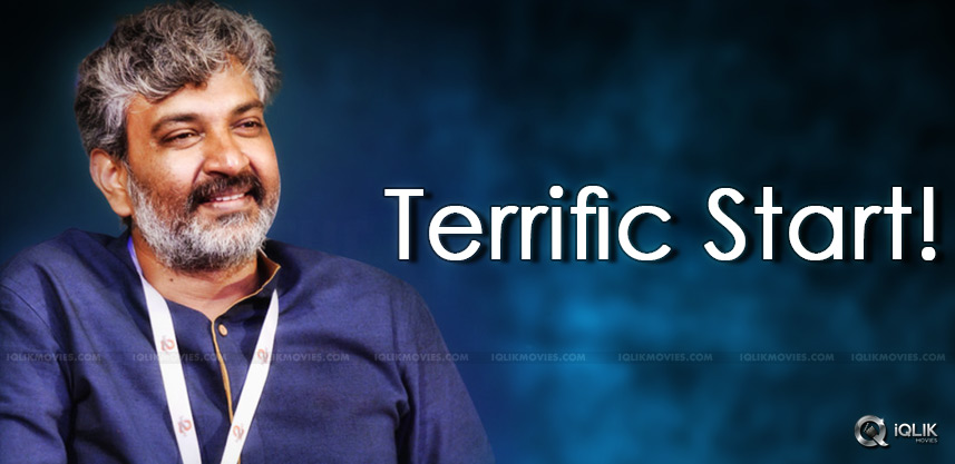 Rajamouli's Terrific Start!!