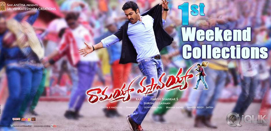 Ramayya-Vasthavayya-First-Weekend-collections