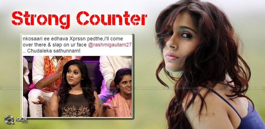 rashmi-gautam-fitting-reply-to-unknown-intwitter