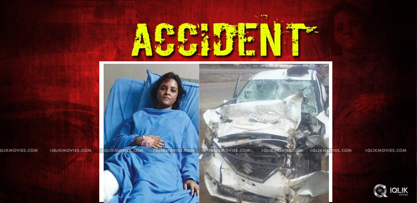 tv-artiste-rohini-reddy-survives-road-accident