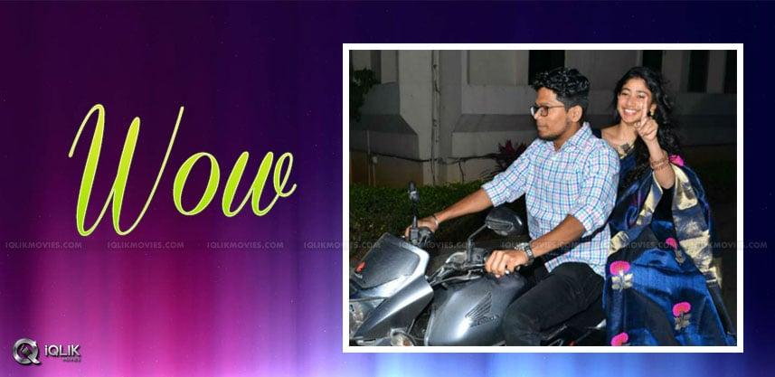 heroine-sai-pallavi-rides-on-bike-for-promotions