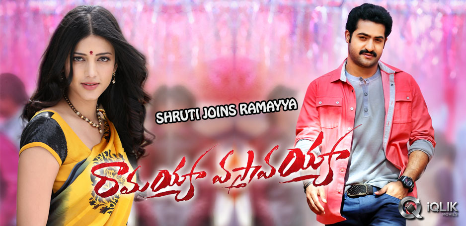 Shruti-Haasan-to-join-Ramayya-Vastavayya-unit