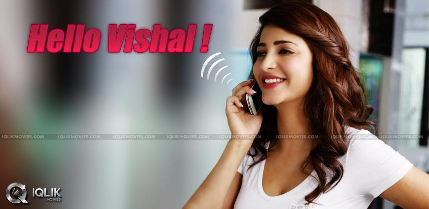 shruti-hassan-acting-wid-vishal-in-hari-next-movie