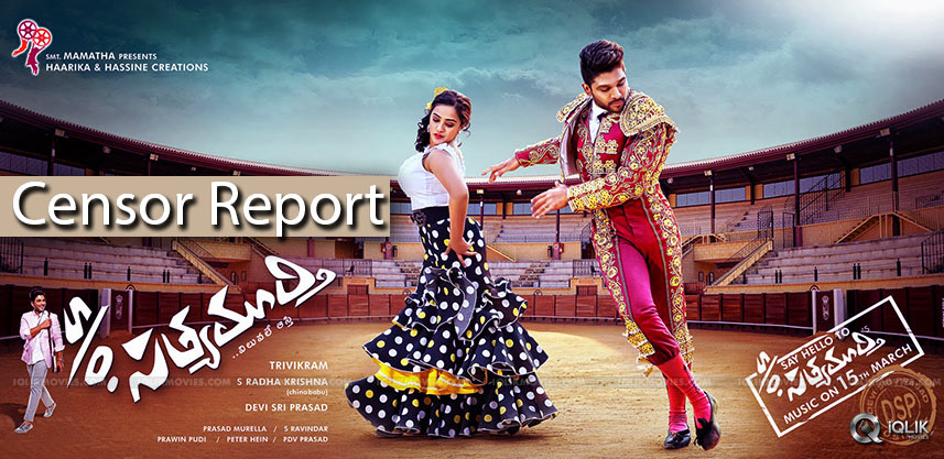 son-of-sathyamurthy-censor-report-and-details