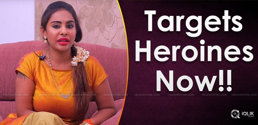 Sri Reddy's Interest Shifts On Heroines Now