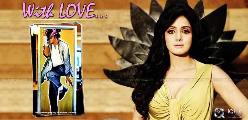 sridevi-paints-michael-jackson-as-tribute-to-him