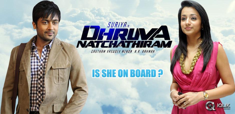 Trisha-joins-Dhruva-Natchathiram