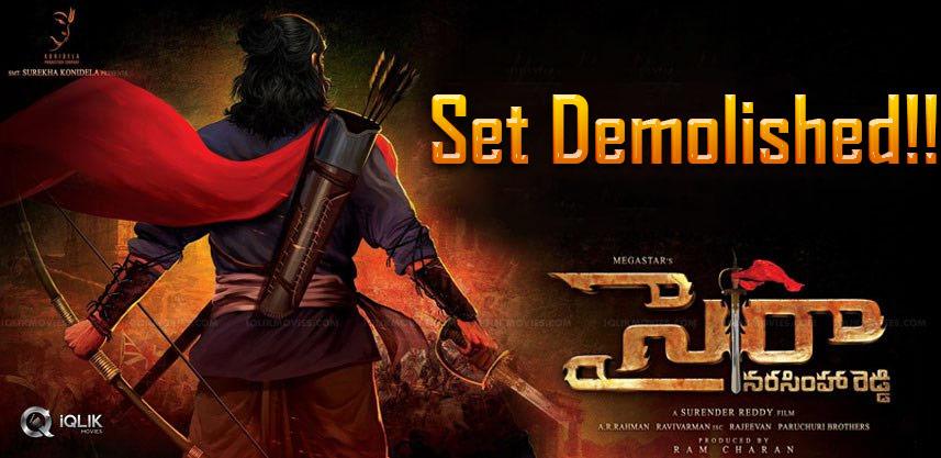 sye-raa-narasimha-reddy-set-demolished-