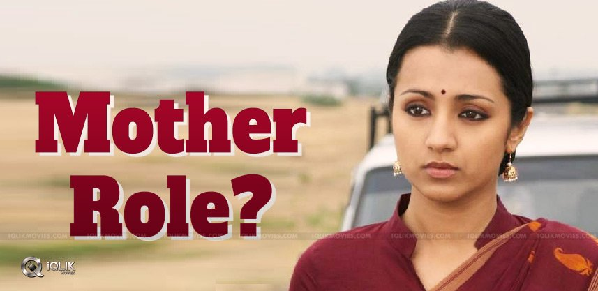 trisha-for-mother-role-in-her-60th-movie