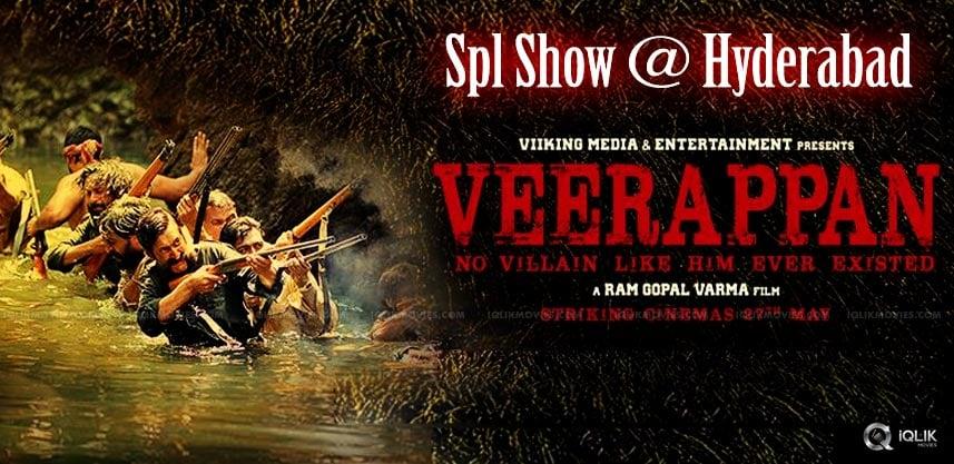 veerappan-special-show-in-hyderabad-details