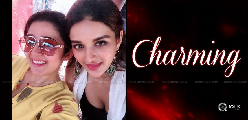 charmee-niddhi-agerwal-in-a-cute-pose
